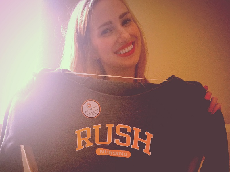 Rush Student with Rush shirt