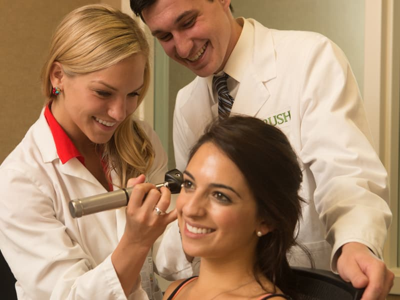 Audiologist within Rush University's Doctor of Audiology program