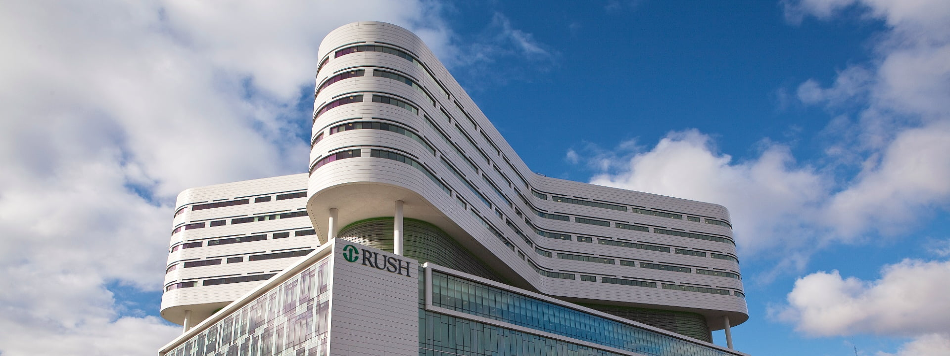Exterior view of Rush Tower building