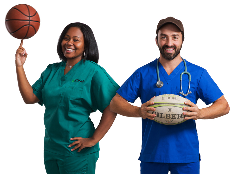 Two college athletes who chose nursing as a profession
