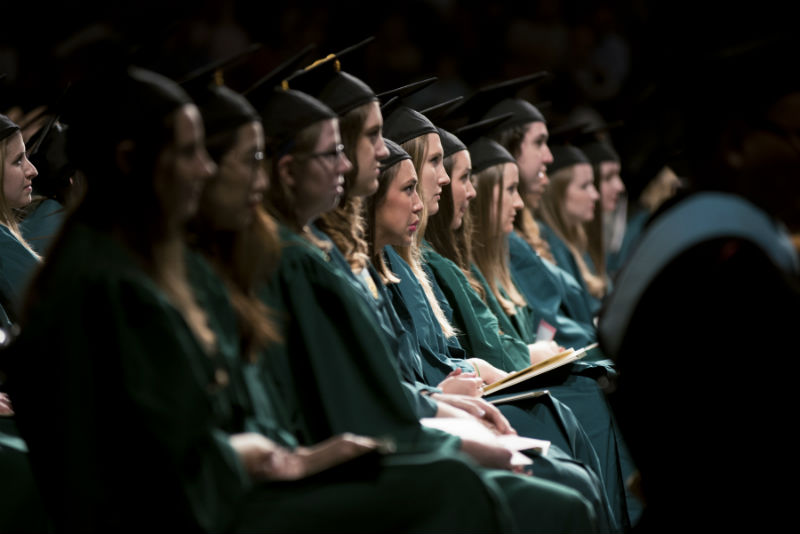 Graduates in 2017 ceremony