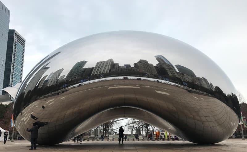 Cloud Gate, also known as The Bean