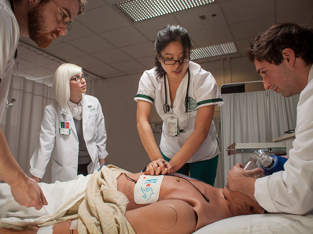 Doctors and nurses working together