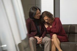 Dr. Beverly Sha and patient Sherri Wrobell