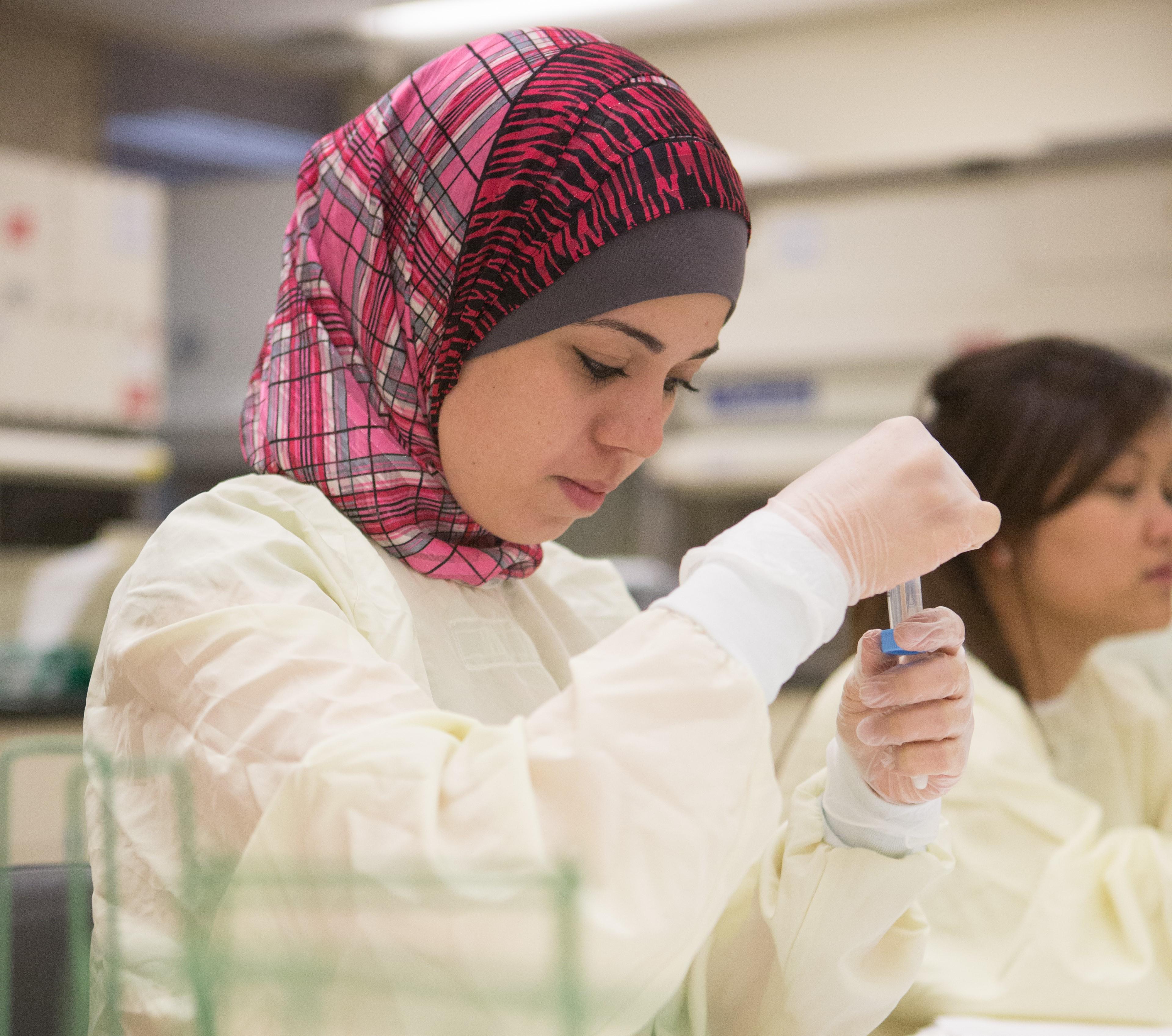 Student in laboratory