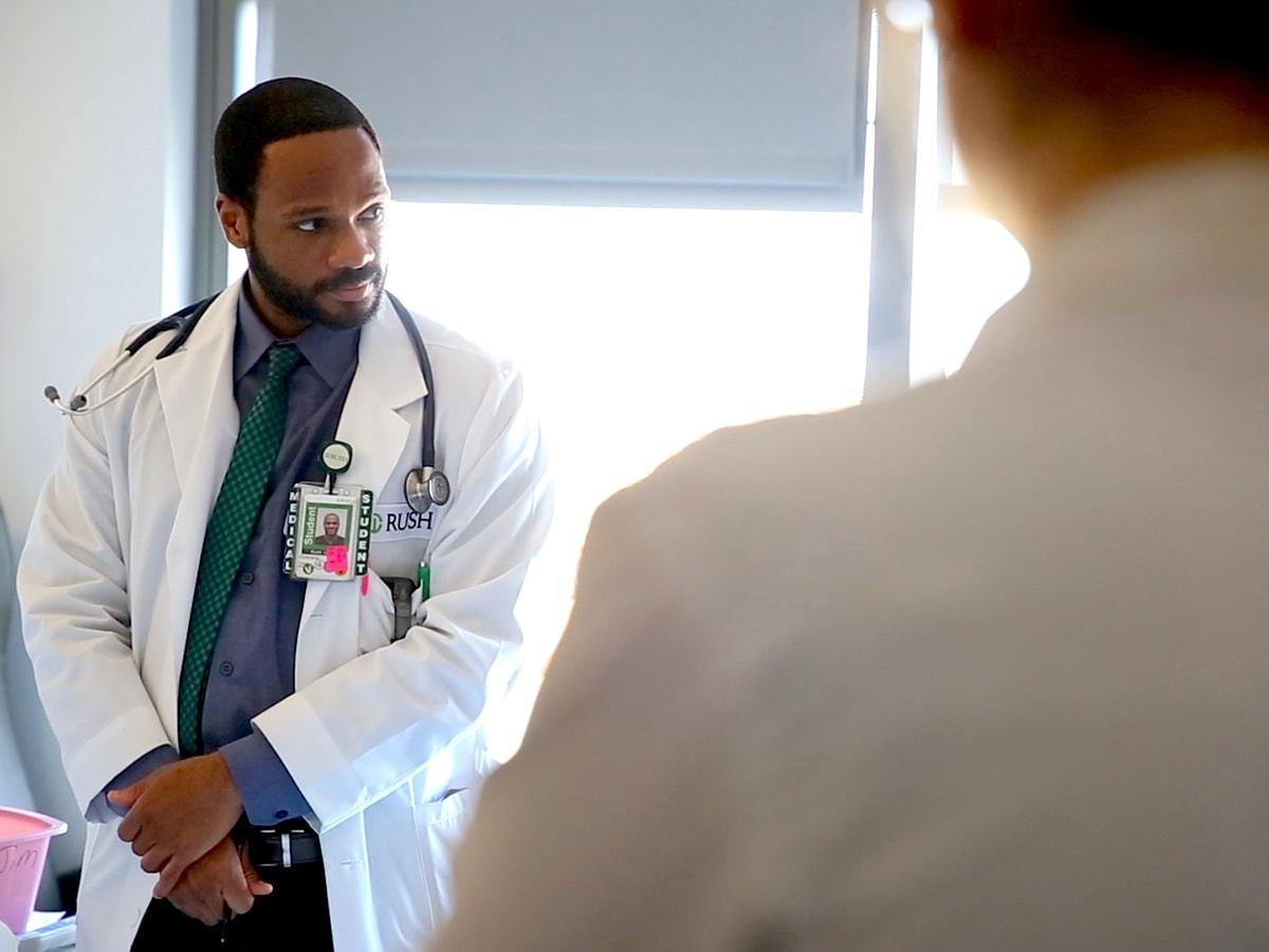 Rush Medical College student Chris Green