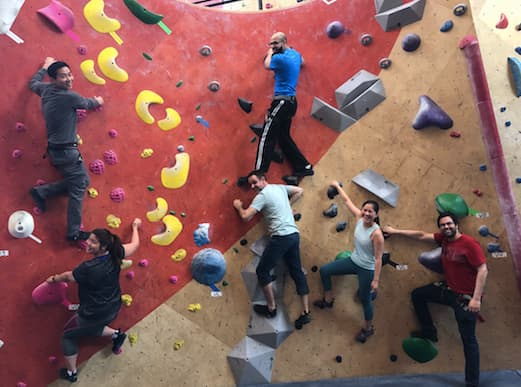 ID Fellow Outing, Bouldering