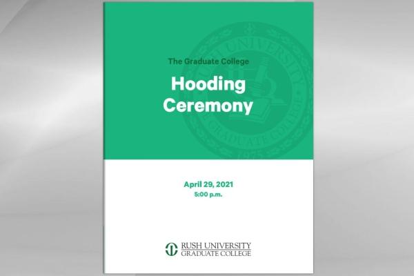 Hooding Ceremony 2020 program cover