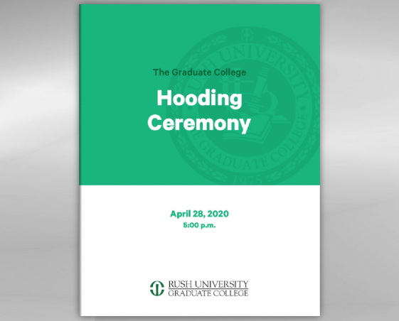 Hooding Ceremony 2020 program cover