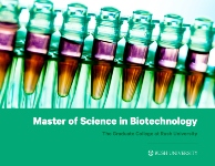 Masters Degree in Biotechnology brochure cover