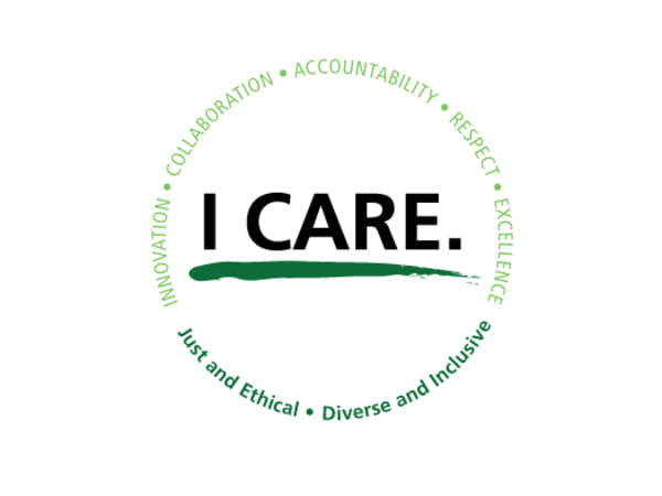 Rush I-Care values: Innovation, Collaboration, Accountability, Respect, Excellence