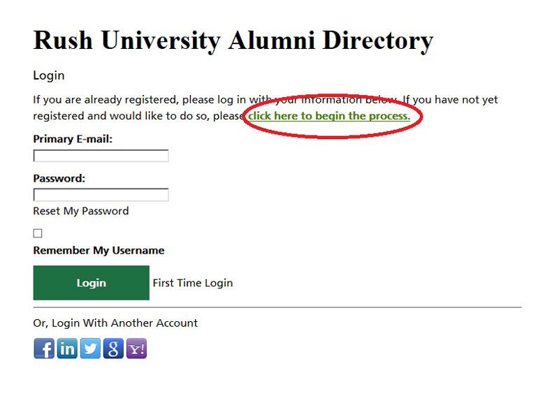 alumni directory first time