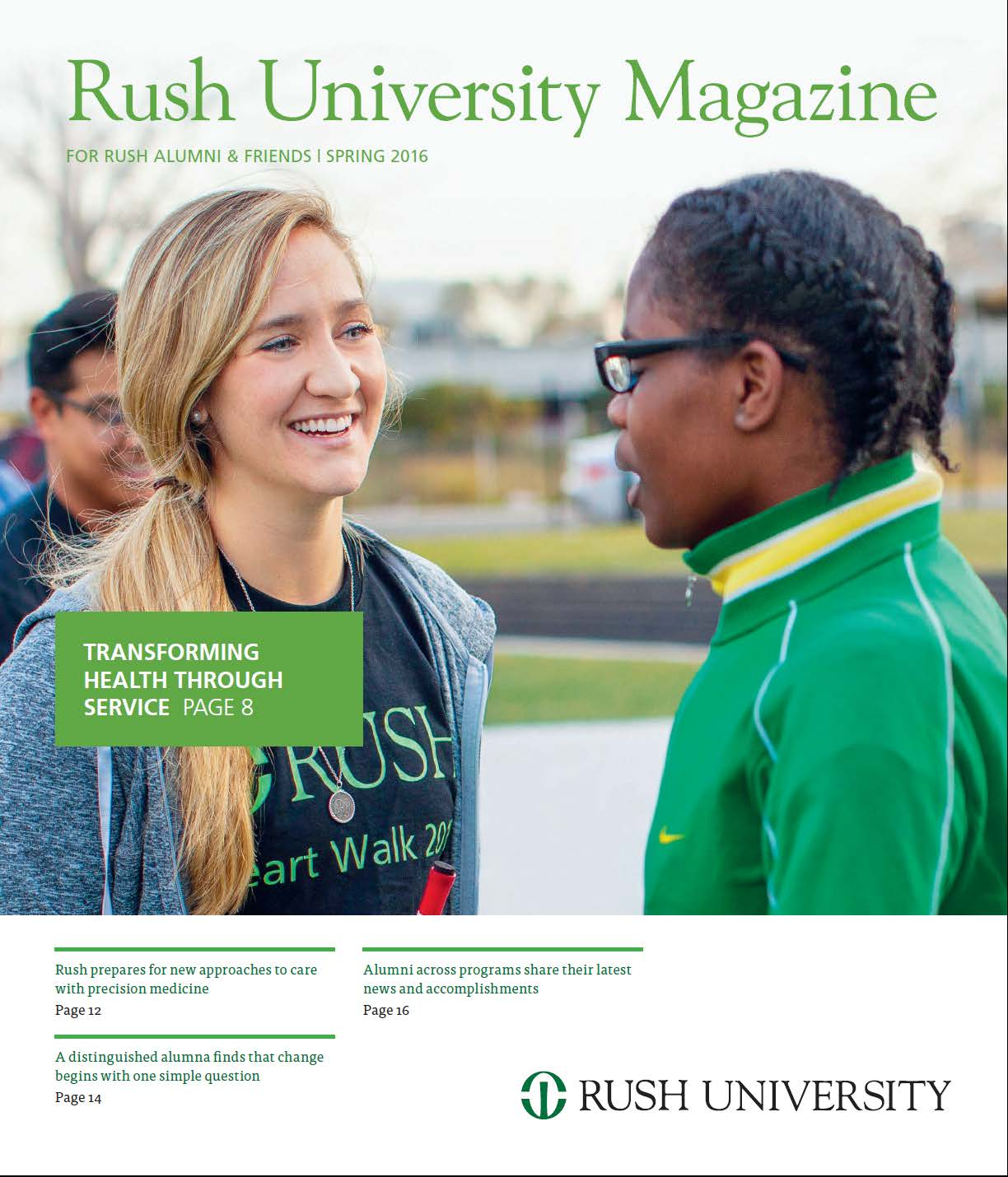 Rush University Magazine Cover Spring 2016