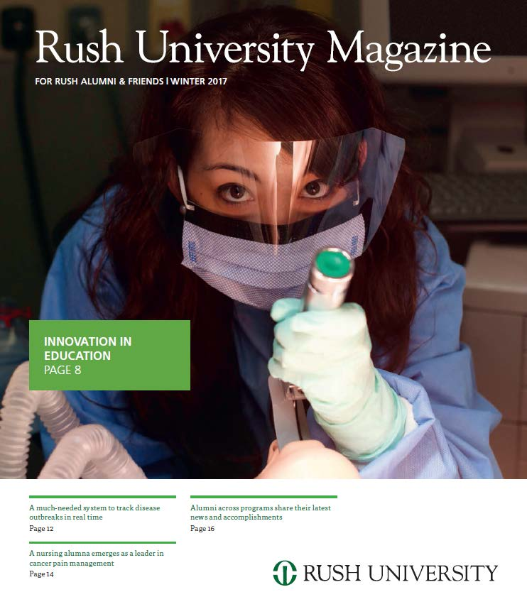 Rush University Magazine Winter 2017 Cover